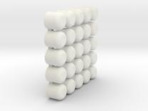 endcaps in White Strong & Flexible