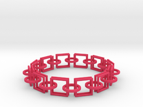 Circles and Squares Bracelets in Pink Strong & Flexible Polished