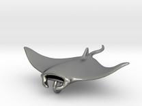 Manta Pendant Head _ small in Raw Silver