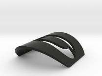 Headtube Badge Diamant - plastic in Black Strong & Flexible