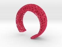 VoronoiBracelet v019 Small/Smart/Symmetrical in Pink Strong & Flexible Polished