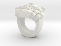8bit-ring-hollow in White Strong & Flexible