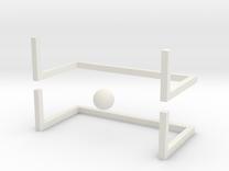 Fingersoccer set in White Strong & Flexible