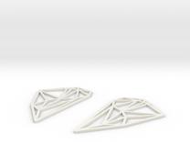 South America Earrings in White Strong & Flexible