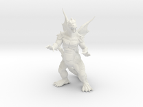 """Pyrosaurus - Solid core 4"""" in White Strong & Flexible"""