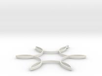 Hexafoil Pendant in White Strong & Flexible