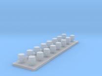 LED flitslamp 1:87 diam 3,0 mm x hoog 2,3 mm in Frosted Ultra Detail