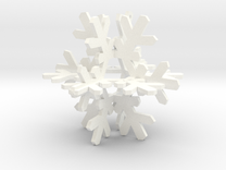 Snowflake in White Strong & Flexible Polished