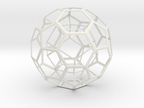 Dodecahedron in Truncated Icosahedron in White Strong & Flexible