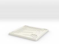 Sci-fi Mesh Floor Hazard L in White Strong & Flexible