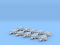H0 1:87 Weichenantriebsattrappe (10 Stk) in Frosted Ultra Detail