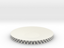 SpikePlate in White Strong & Flexible