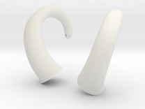 Horns - Glue On in White Strong & Flexible