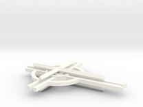 """Cathedral Cross 3"""" (no top hook)  in White Strong & Flexible Polished"""