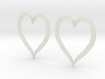 Heart Earrings in Transparent Acrylic