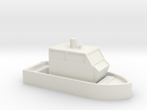 N Scale :: Boat in White Strong & Flexible