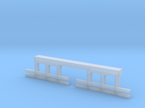 HO Scale Streetcar Safety FENDERS 1pr in Frosted Ultra Detail