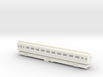 Z Scale Pullman Heavyweight Coach Car in White Strong & Flexible Polished