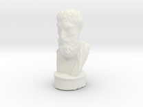 Epicurus 4 inches tall (hollow) in White Strong & Flexible