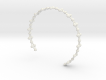 Frustrated Chain Cuff in White Strong & Flexible
