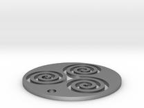 "Triskele (1.25"" diameter) in Raw Silver"