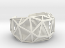 Facetedcuff in White Strong & Flexible