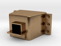 D29 External Coupler Pocket 1:64 in Raw Brass