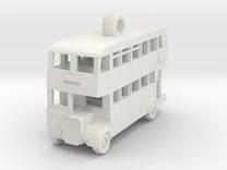 Double Decker Bus in White Strong & Flexible