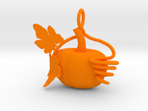 Pumpkin Pendant in Orange Strong & Flexible Polished