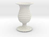 Miura Curved Cup / Vase Flower Lite in White Strong & Flexible