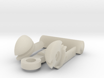MDD Shoulder Joint Replacement in White Acrylic