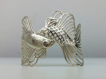 Pisces all sizes in Premium Silver: Small