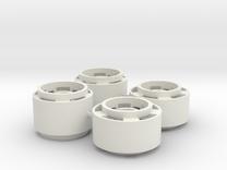 Mini-z F1 Wheelset for BRM rears -2.5mm original o in White Strong & Flexible