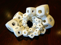 Dodecahedron Chains 1 in White Strong & Flexible
