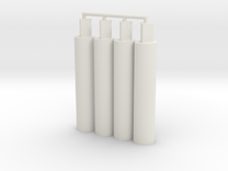 4x Thick Pegs 2.0 in White Strong & Flexible