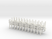 Cafe  Chair style 2 With Arms HO Scale X12 in White Strong & Flexible