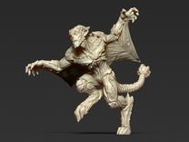 Gargoyle - unit 3 - Miniature 28/30mm Scale in Frosted Ultra Detail