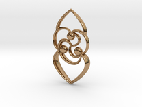 Celtic rose in Polished Brass