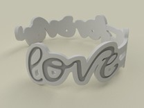 Love Is Forever Bracelet in Polished Silver