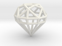 Gem Wire 5 Facets 3cm in White Strong & Flexible
