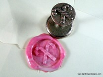 Candy Canes Wax Seal in Stainless Steel