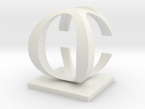 Two way letter / initial C&O in White Strong & Flexible