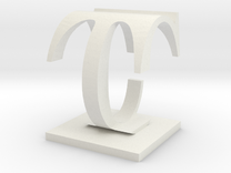 Two way letter / initial C&T in White Strong & Flexible