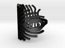 peacock ring size 7  in Matte Black Steel