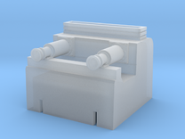 2mm:ft scale hydraulic buffer stop in Frosted Ultra Detail