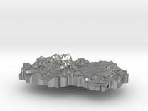 Macedonia Terrain Silver Pendant in Raw Silver