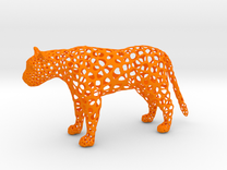 proud Leopard in Orange Strong & Flexible Polished