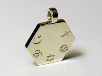 Statement for Peace: neutral pendant in Polished Silver