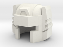 Robohelmet: Bullet Head v2 in White Strong & Flexible