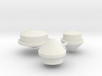 TLG Buttons Single1 in White Strong & Flexible
